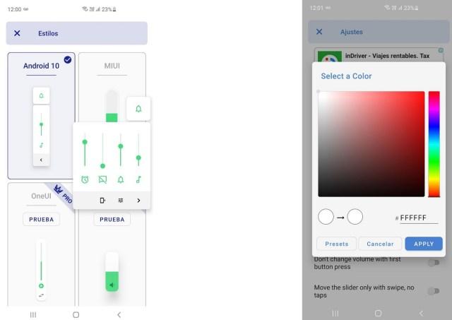 Captura B de Volumen Ultra app