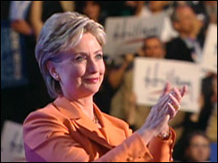 Sen. Clinton speaks at the Democratic National Convention