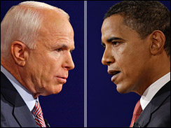 McCain and Obama head to head