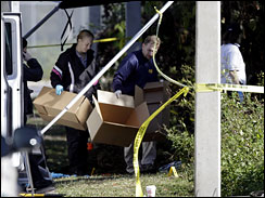 Investigators collect evidence from Anthony house