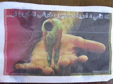 Translation from Pashto: If you do not free the American soldier, then…