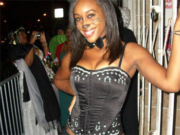 A Costumed Mitrice Richardson...