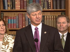 Rep. Bart Stupak, D-Mich., announcing his support for the health reform bill Sunday, March 21, 2010  (CBS)