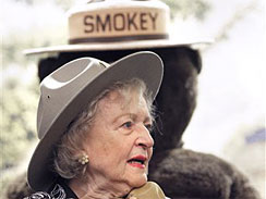 Betty White with Smokey the Bear