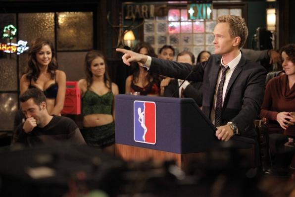 Barney choosing strip clubs