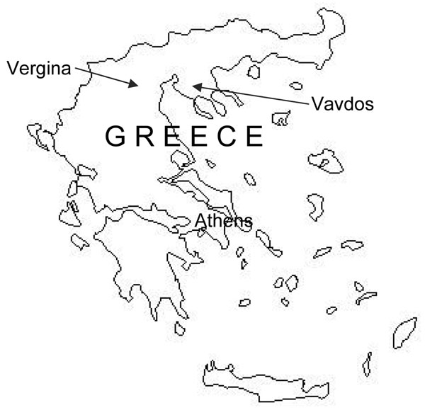 Blank Map Of Greece