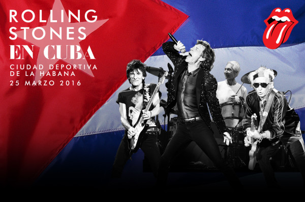 Poster for Rolling Stones concert in Cuba