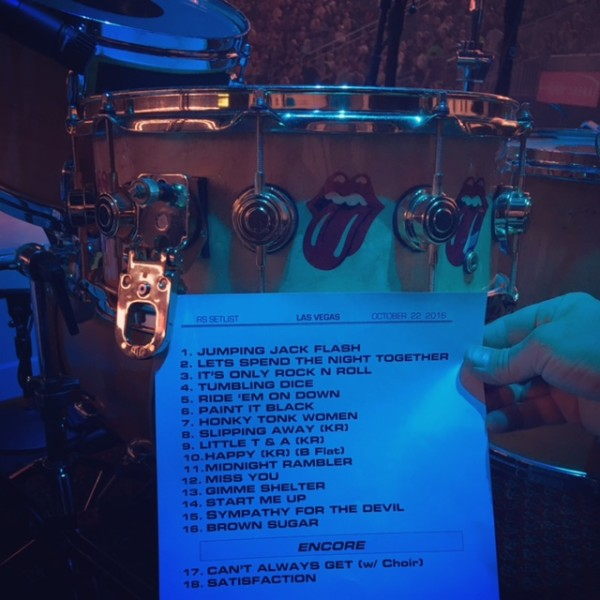 The Rolling Stones - Las Vegas - Set List - T Mobile Arena