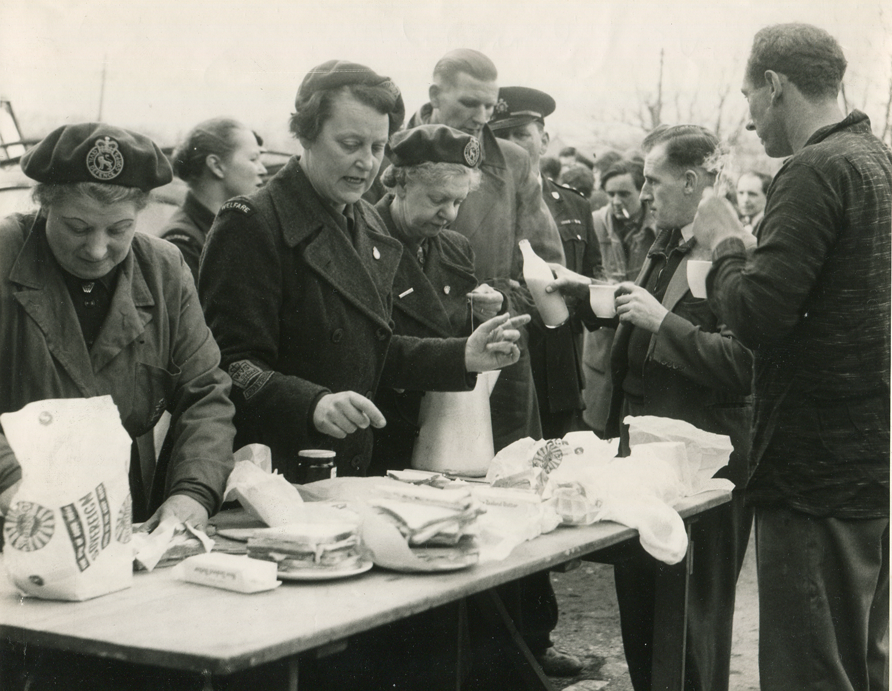 WVS ladies dispense refreshments