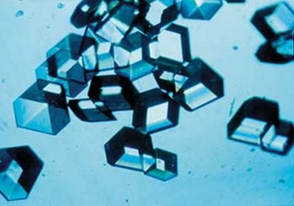 Cristalli di insulina, il primo farmaco biotecnologico (fonte: NASA/Marshall)