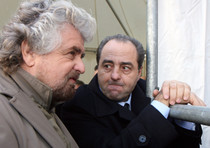 Beppe Grillo e Antonio Di Pietro