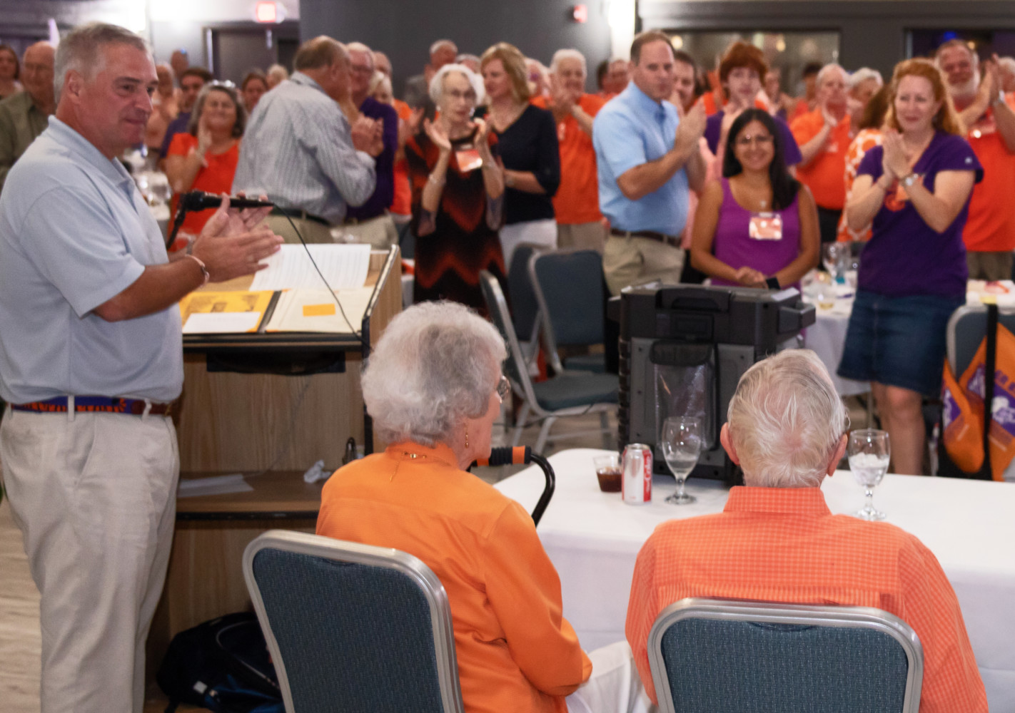 mccabe camping chairs argos chair covers black gift announced at first tiger band reunion clemson jim and barbara