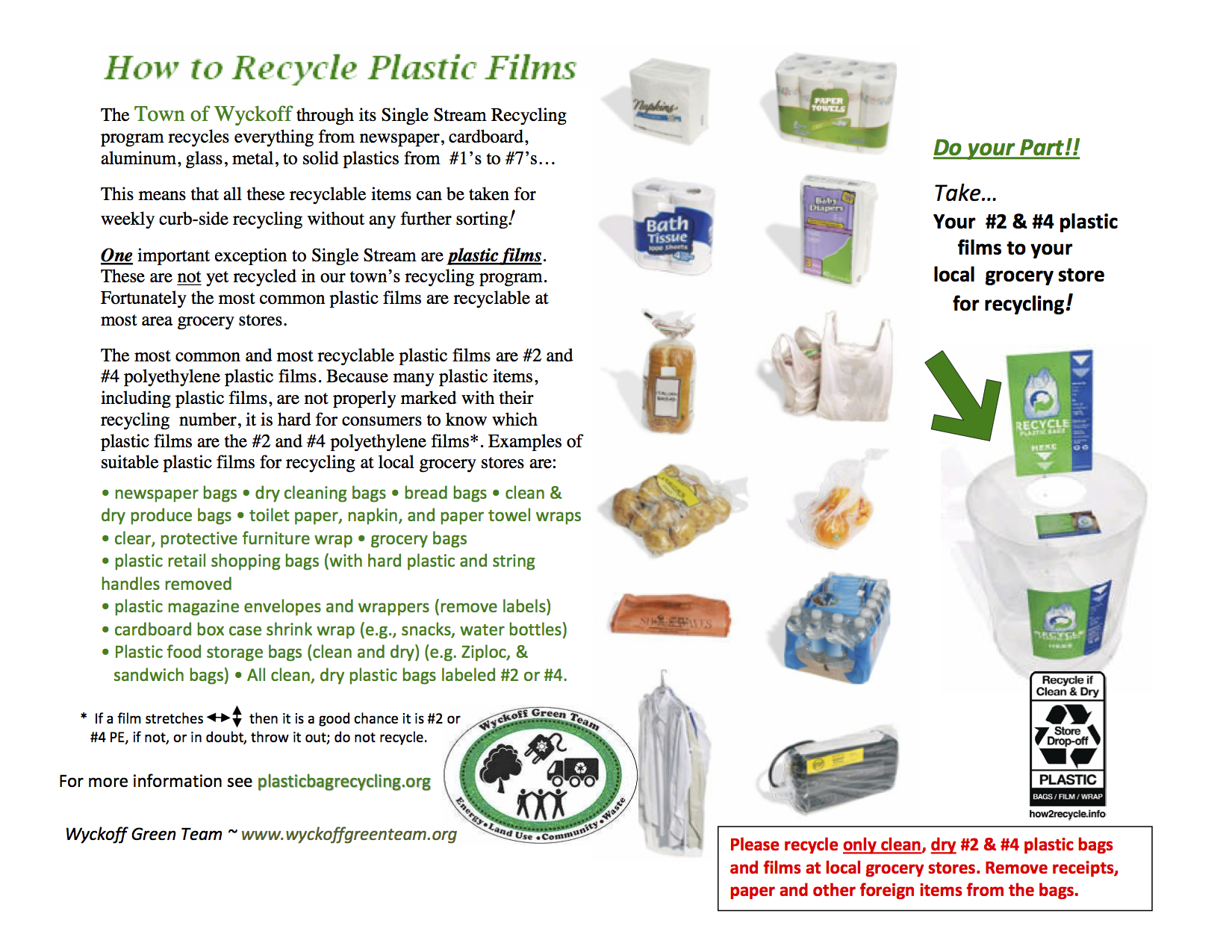 How To Recycle Plastic Films