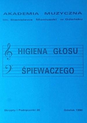 Okładka książki higiena głosu śpiewaczego