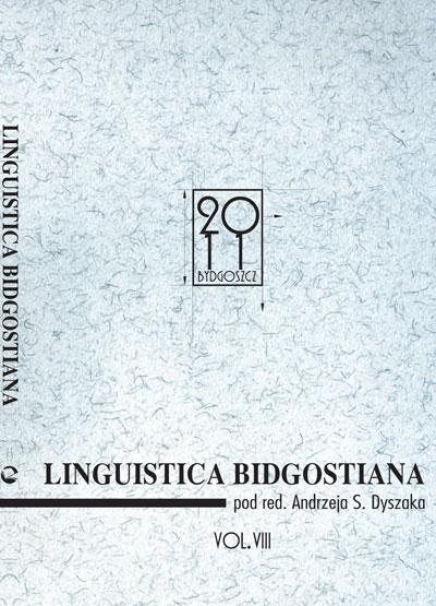 Linguistica Bidgostiana tom VIII