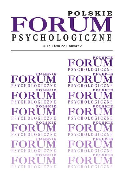 Polskie Forum Psychologiczne tom 22 numer 2