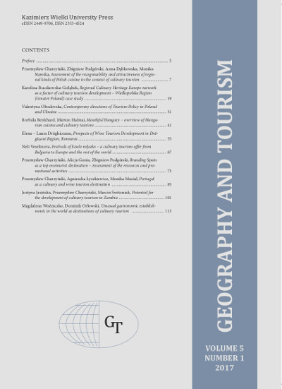 Geography and Tourism 2017 volume 5 number 1