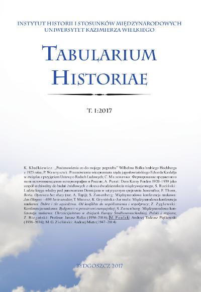 Tabularium Historiae T. I:2017