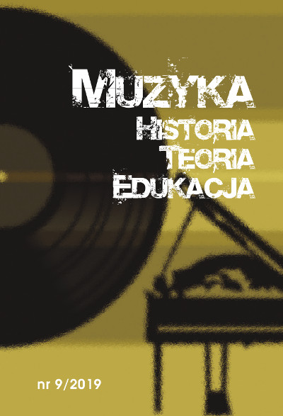 Muzyka. Historia. Teoria. Edukacja nr 9/2019