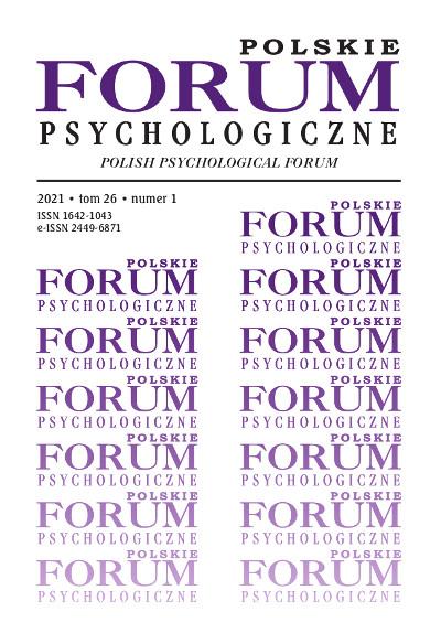 Polskie Forum Psychologiczne tom 26 numer 1