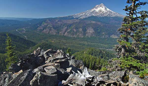 The Lookout Mountain vision quest site is perched high on rocky cliff