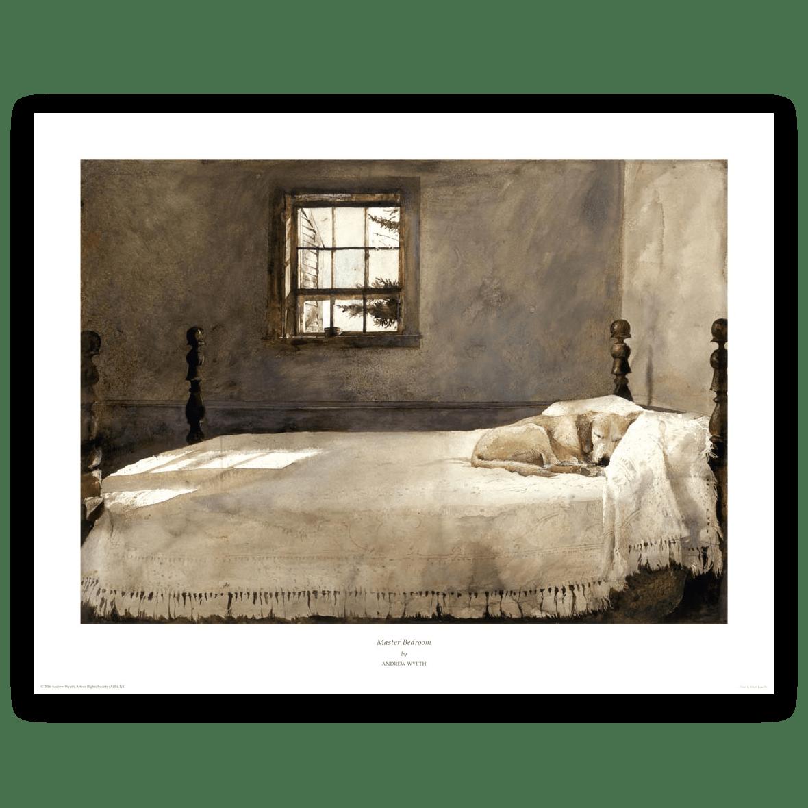 Master Bedroom by Andrew Wyeth | Wyeth Print Gallery : Wyeth Print Gallery