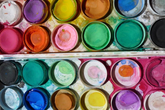 Messy coloured paints speak of a heart brave enough to create. wyldeandfree.com creativity
