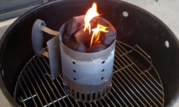 starting the coals