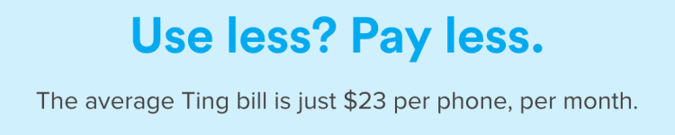 Ting: use less? Pay less.