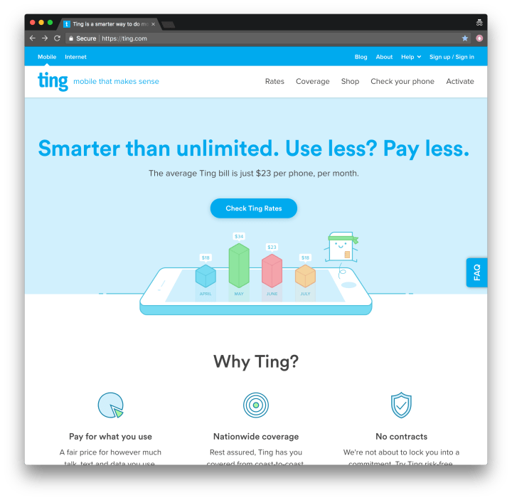 Ting web site