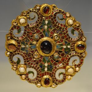 Dorestad brooch, (c) 800, discovered in the bottom of a well in the Dutch town of Wijk bij Duurstede on July 18, 1969.