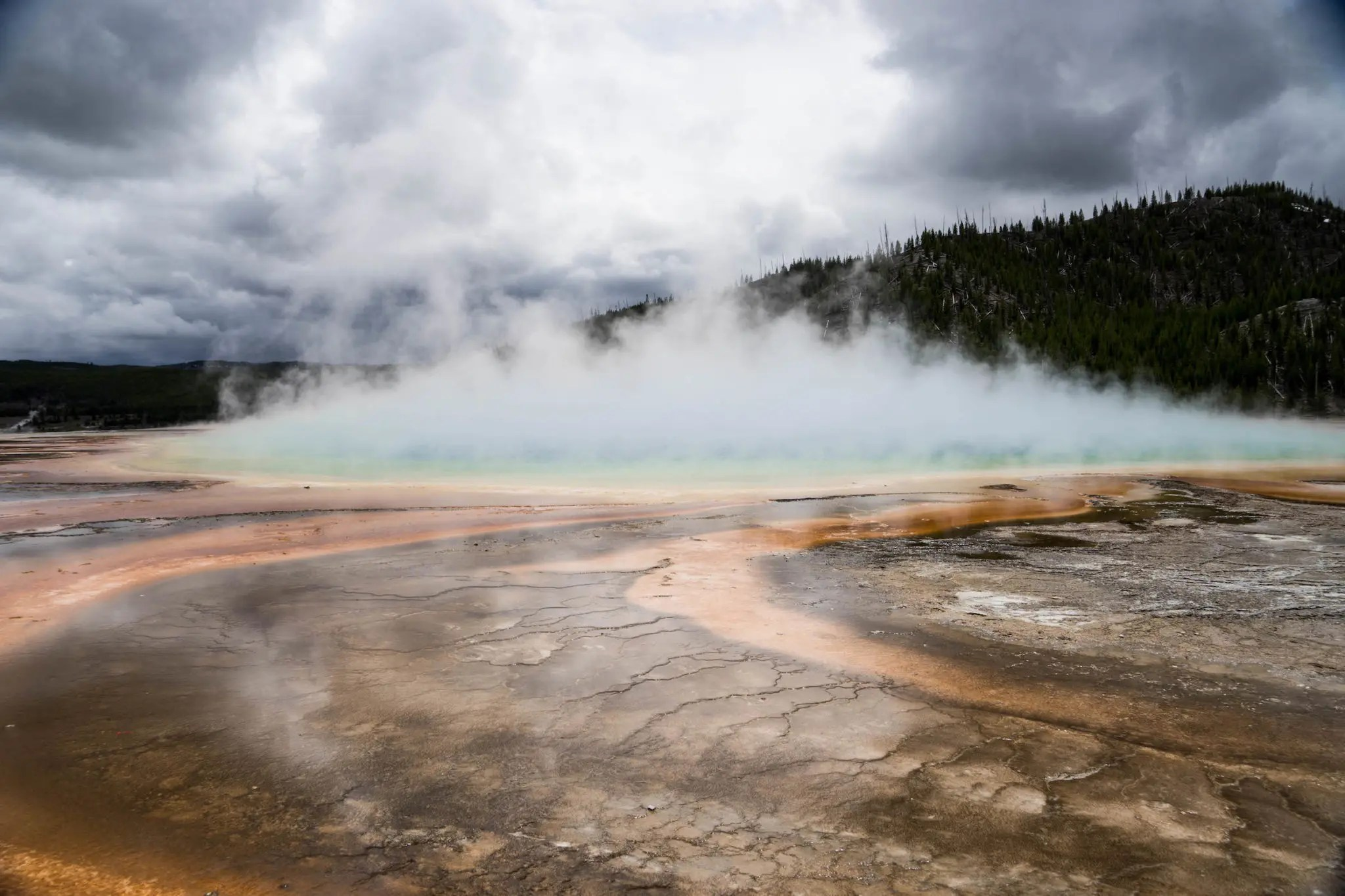 The geysers are truly beautiful and eerie things.