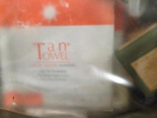 Tan towels are already packed!