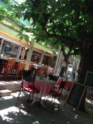 St. Tropez. Resto La Ramade. Such a cute restaurant the outdoor seating is so cute!