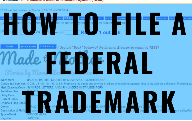 USPTO 101: Yes, You CAN Get a Federal Trademark without a Lawyer!