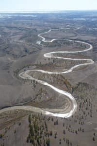 The Powder River between Gillette and Buffalo runs through the center of Wyoming's largest coal-bed methane gas field.