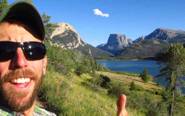 SUIndependent, a southern Utah news site, posted this photograph of Adam Stewart on its web page after the Virgin, Utah resident was killed by a bear in the Teton Wilderness. Stewart, seen here in front of iconic Squaretop Mountain at the north end of Wyoming's Wind River Range, was working for a private company conducting research for the U.S. Forest Service when he failed to return from a trip. (SUIndependent)