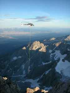 A patient is evacuated from high country in Grand Teton National Park. A new report indicates males are much more likely to die while in the park's backcountry, and that avalanches and unroped climbs are the leading cause of death. (courtesy Grand Teton National Park)