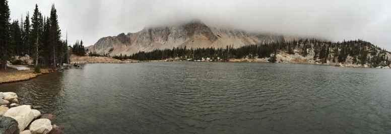 Southern extent of Medicine Bow Peak over Mirror Lake. Medicine Bow National Forest. (Jeff Phillips)