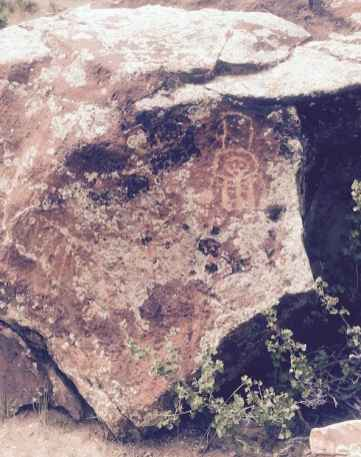 Photo of petroglyphs near Torry Lake, Wy. Taken July 7, 2015 without permission of the U.S. Forest Service. Will I go to prison? (Courtesy Bob Caesar)