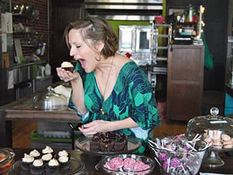 """Self-taught baker Laura Chapman doesn't shy away from the fact that Gillette is known as an energy town; in fact, she takes inspiration from it. Top sellers at Alla Lala Cupcakes include the """"Coal Seam Overload"""" and """"Black Gold."""" (Laura Chapman)"""
