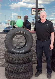 """Greg Cottrell, a former mine worker turned owner of a Big O Tires store in Gillette, said the downturn has been rough on his business, especially commercial accounts. """"I think when you're talking about energy, absolutely we have to be responsible for the environment,"""" he said. """"I don't think you need such stringent regulations that cripple business."""" (Greg Cottrell)"""