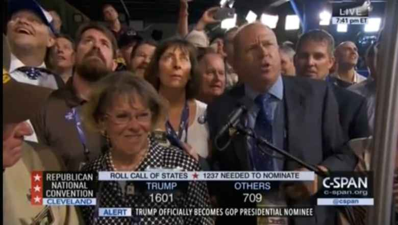 Wyoming's delegation to the convention included Rep. Marti Halverson. (C-SPAN)
