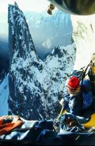 Kim Schmitz in his bedroom on Pakistan's Uli Biaho in 1979, one of his notable climbs. The alpinist died following a car crash along the Salmon River in Idaho on Sept. 18. (c John Roskelley)