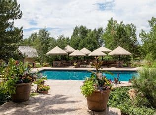 """Federal prosecutors say Two Elk promoter Michael J. Ruffatto fraudulently obtained millions of dollars in federal money, which he """"spent and dissipated ...on extravagant personal expenses, totally unrelated to the project, including payments for the defendant's personal residence in Englewood, Colorado"""" - this 6-bedroom, 10-bath home with pool, extensive grounds, and attached stable, now advertised on Zillow for sale at just under $13 million. (Zillow photo)"""
