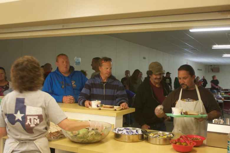 Gillette's soup kitchen during the Tuesday lunch hour. One man being served said he was recently let go from the oil field after receiving a DUI. (Andrew Graham/WyoFile)