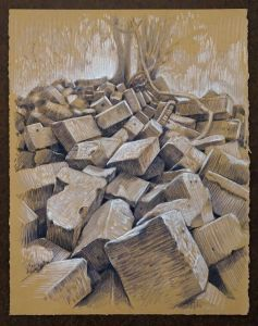 Travel Drawing: Beng Mealea, Cambodia, by Doug Russell
