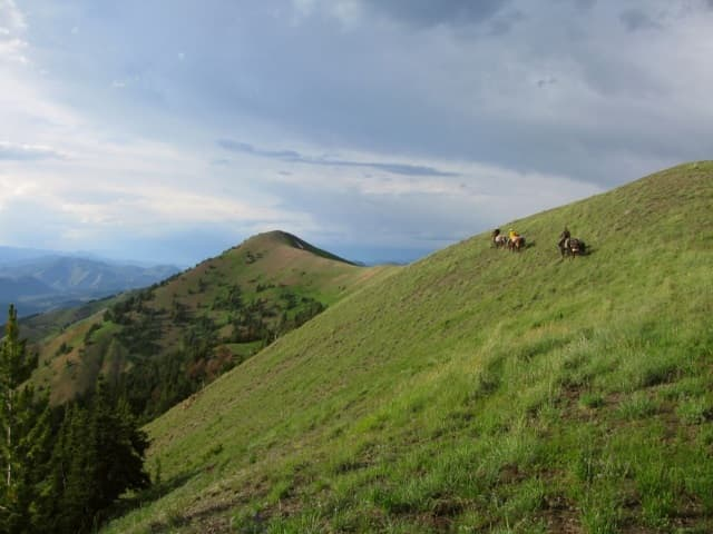 Riders make their way across the Wyoming Range in 2010. The area is known for its recreation opportunities. Citizen efforts helped retire more than 1 million acres in the forest from future oil and gas leasing. (Steve Kilpatrick)