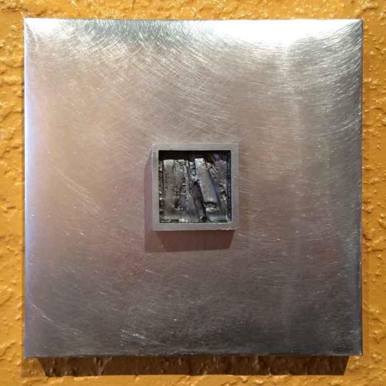 Linda Ryan, Texture Studies (detail). Cast aluminum, 2016. (Sue Sommers)