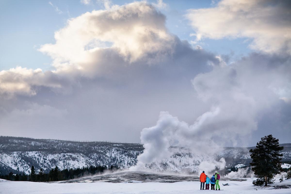 Wyoming Yellowstone National Park geyser
